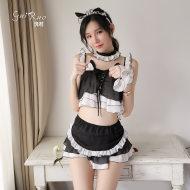 瑰若猫女郎情趣内衣服制服诱惑床上激情套装超骚开裆免脱小胸显大