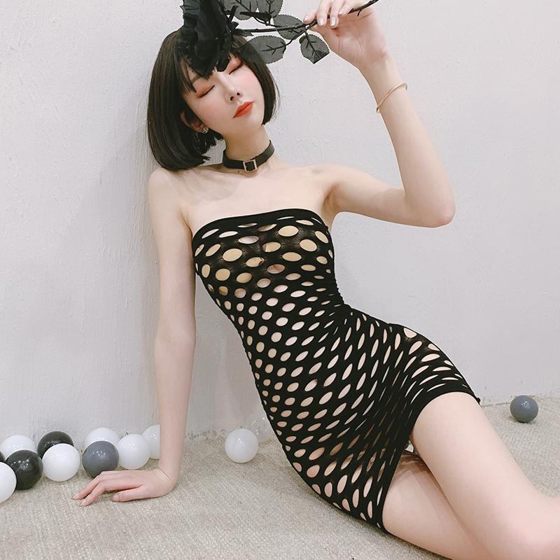情趣睡衣性感骚包臀网衣紧身裙网衣破洞修身诱惑超短裙火辣成人