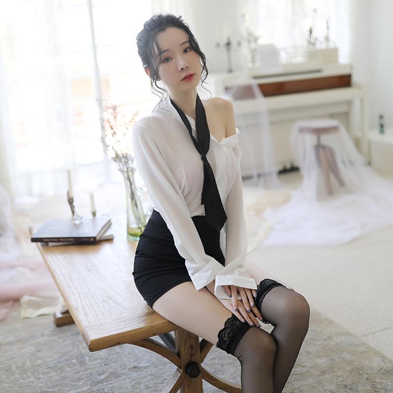 性感秘书OL制服诱惑火辣夜店调情紧身包臀女教师短裙情趣内衣套装